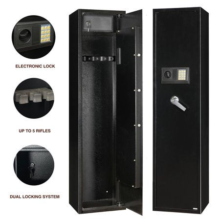 Zimtown Electronic Digital Safebox Rifle Pistol Depository Safe Lock Cash Drop Box Steel Storage (Electronic Pistol Safes)