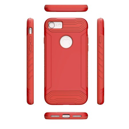 iPhone 7 Case, by Insten Hard Hybrid Dual Layer TPU Cover Case for Apple iPhone 7 - Red - image 3 of 3