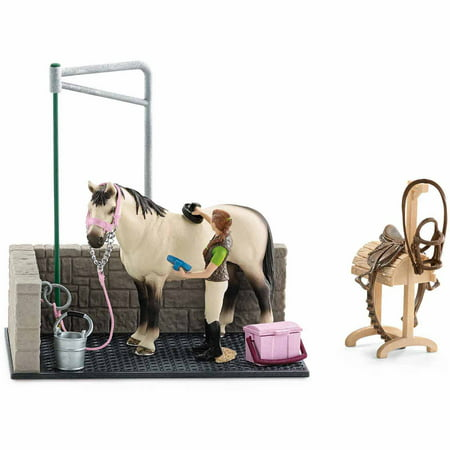 Schleich Horse Club, Horse Wash Area Play - Horace Set