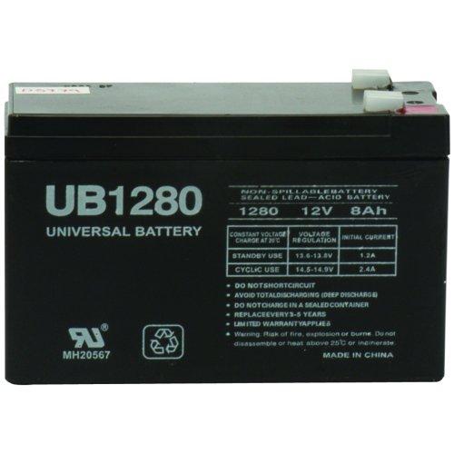 NEW UPG 85989/D5779 SEALED LEAD ACID BATTERIES (12V; 8 AH; .250 TAB TERMINALS; UB1280F2) (BATTERIES)