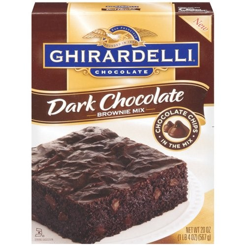 Ghiradelli Dark Chocolate Brownie Mix (Pack of 2)
