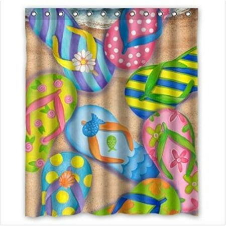 Waterproof Bathroom FHric Shower Curtain Hstract Art Cool Deer Head Buck Animal Print Design 60 X 72