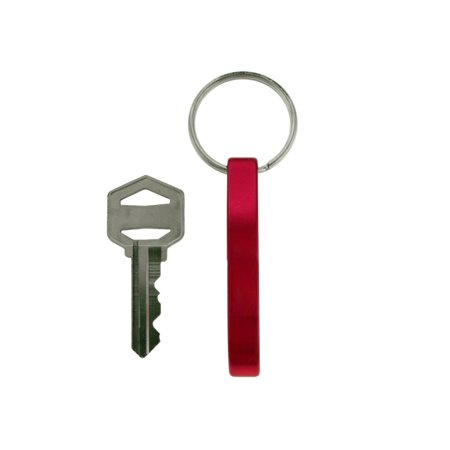 Red Aluminum Bottle Opener Keychain KEKC4120R