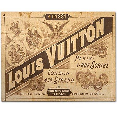 Louis Vuitton Trunk Label - 11x14 Unframed Art Print - Great Home Decor