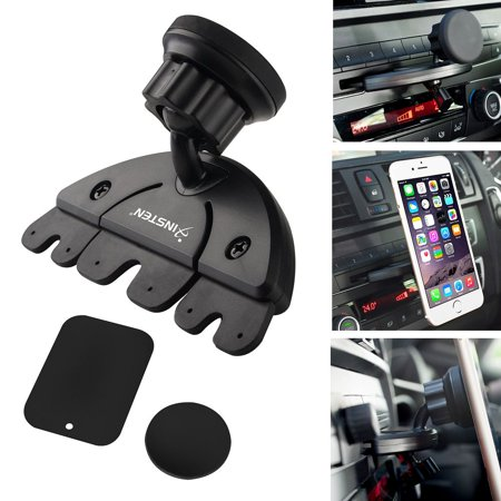 Insten Car CD Slot Magnetic Phone Holder Mount For Apple iPhone 8 X 7 6 6S  Plus 5S SE / Android Smartphone LG HTC Samsung Galaxy S8 S7 S6 S5 Note 8 5