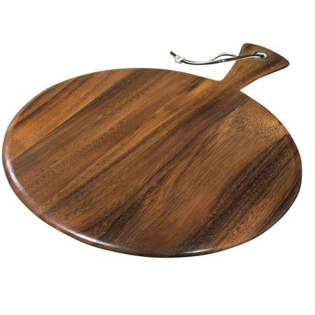 Round Paddle Board, Acacia Wood (Round Wood Cutting Board)