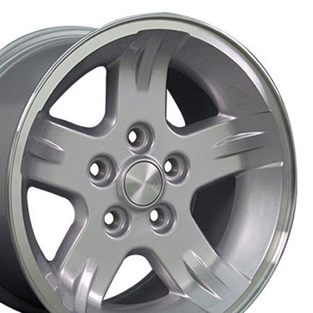 Jeep Wrangler Dealer (15x8 Wheel Fits Jeep Wrangler - Wrangler Style Silver Rim, Hollander 9050 )