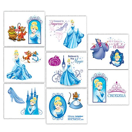 Disney Cinderella Sparkle Tattoos, 1 sheetpk - Tattoo Princess
