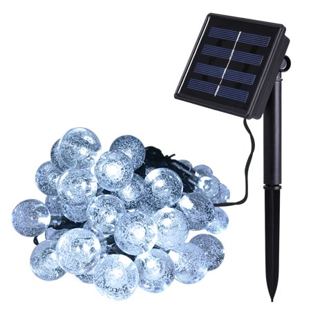 Outdoor Solar Power Decorative String Lights Costech 30 Led 20 Ft Water Resistant Christmas