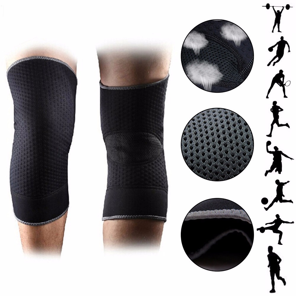 CFR Athletics Knee Compression Sleeve Support for Running, Jogging, Sports, Joint Pain Relief, Arthritis and Injury Recovery-Single Wrap