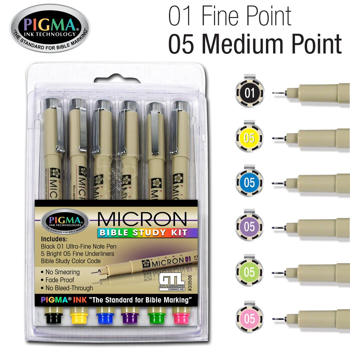 Pigma Micron Bible Study Kit 6pk (Other)