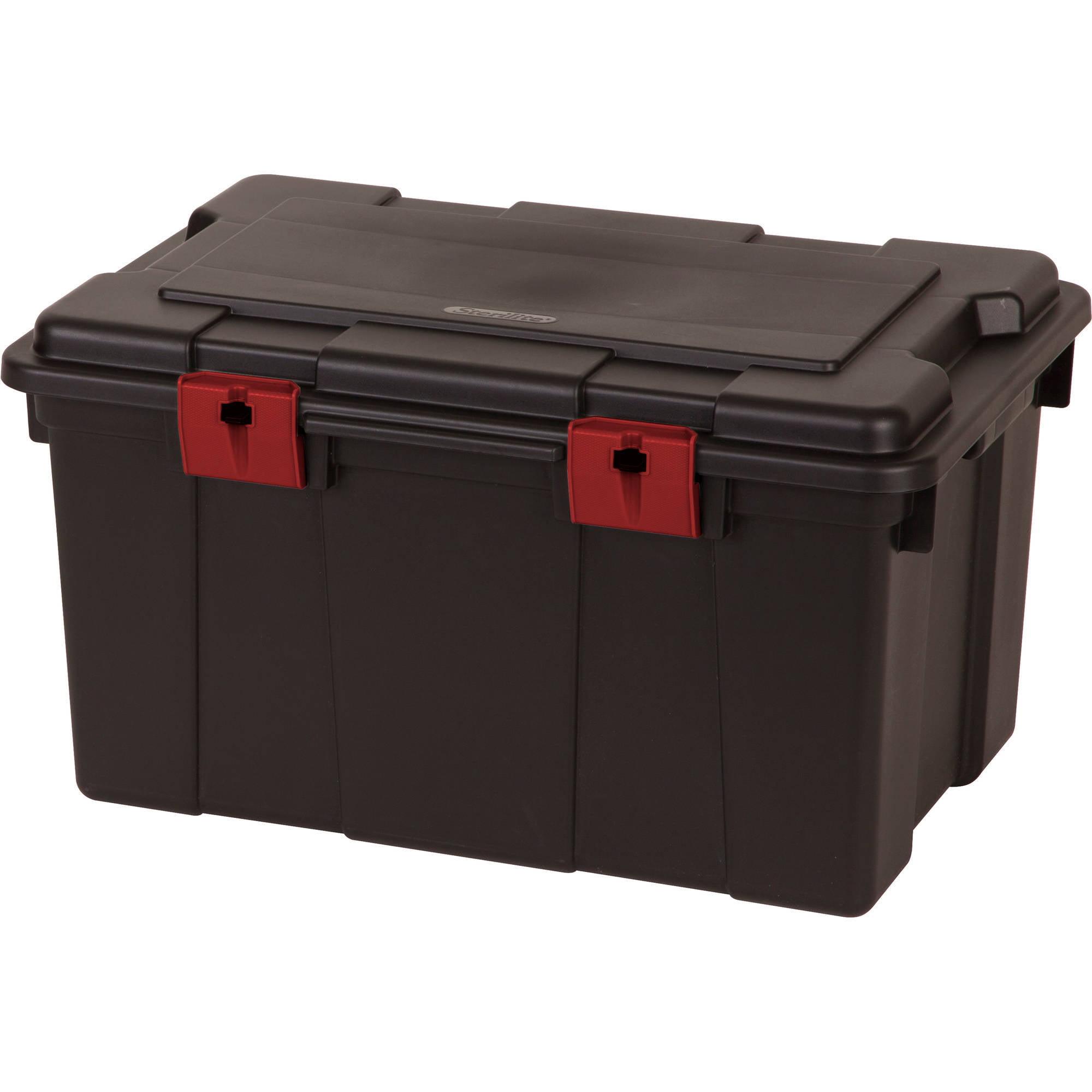 Sterilite 16 Gallon Storage Trunk- Black (Available in Case of 4 or Single Unit)