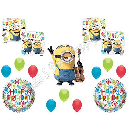 STUART DESPICABLE ME MINIONS Happy Birthday PARTY Balloons Decorations Supplies movie - Minion Ballons