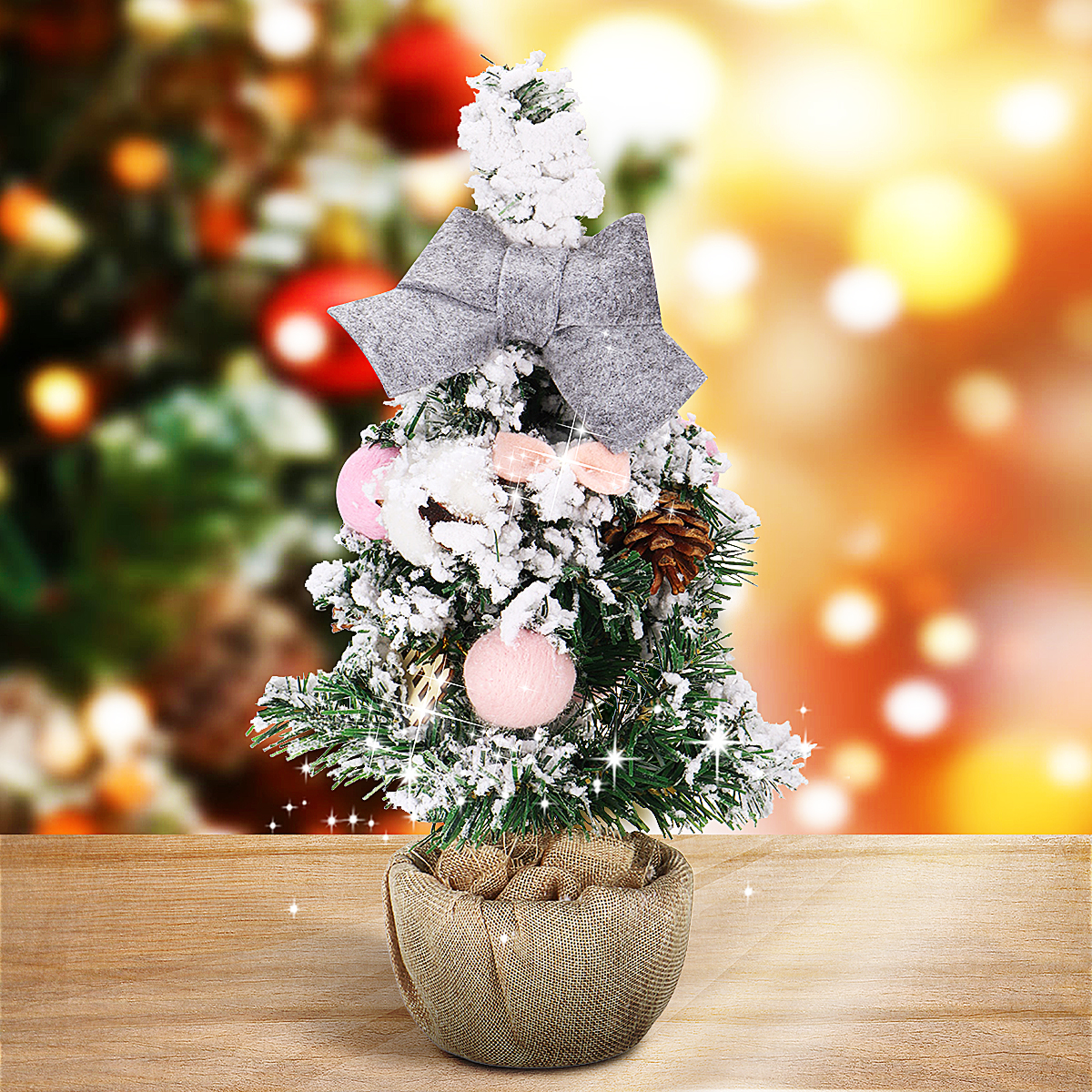 2ft Mini Flocked Christmas Trees Small Christmas Tree With Snow Artificial Tabletop Christmas Tree Realistic Miniature Tiny Desk Top Table Faux Xmas Decorations Decor 25 Branch Tips White Walmart Com Walmart Com