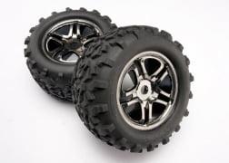 Traxxas 4983A Black Chrome Wheel Maxx Tire (2): Revo, E-Maxx, T-Maxx by TRAXXAS