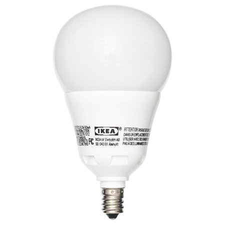 Ikea E12 400 LED Light Bulb 6.3 Watt DIMMABLE Globe Opal ...
