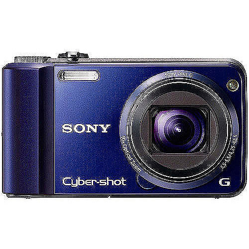 "Sony Cyber-shot DSC-H70 16MP Digital Camera, Blue w/ 10x Zoom, 3.0"" LCD"