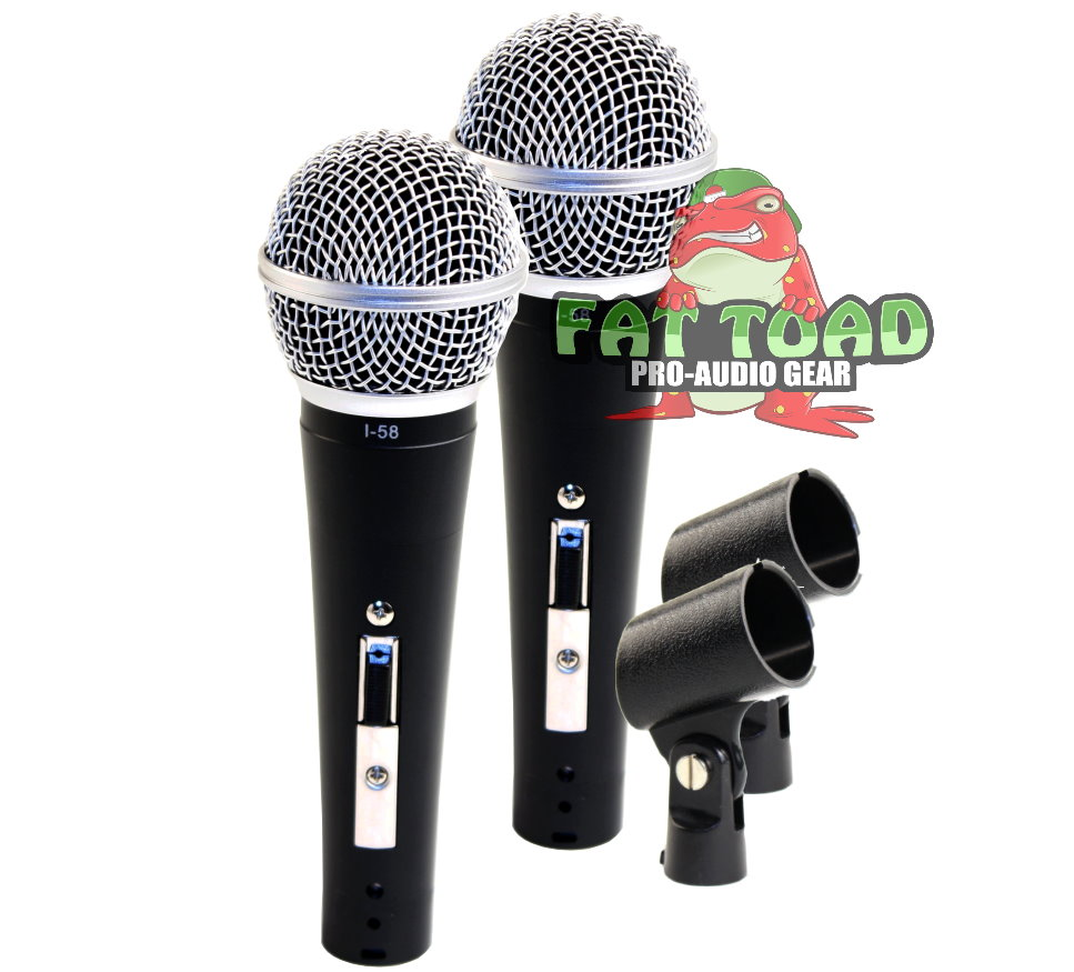 Dynamic Vocal Microphones with Clips (2 Pack) by Fat Toad Professional Cardioid Handheld,... by Fat Toad