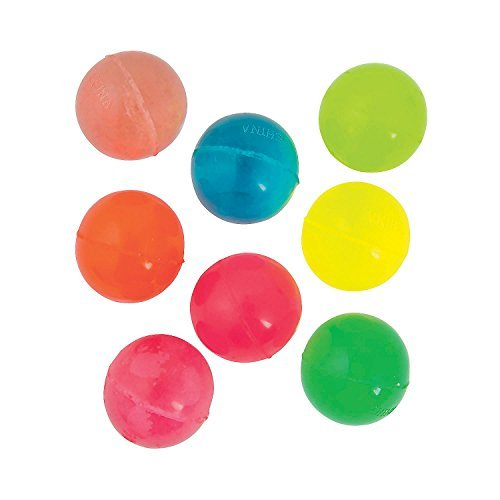 Neon Bouncing Balls - Pack Of 18 - 1.75 Inches Assorted Neon Colors - High Bouncing Balls – For Kids Boys And Girls Great Party Favors, Bag Stuffers, Fun, Toy, Gift, Prize, Piñata Fillers - By Kidsco