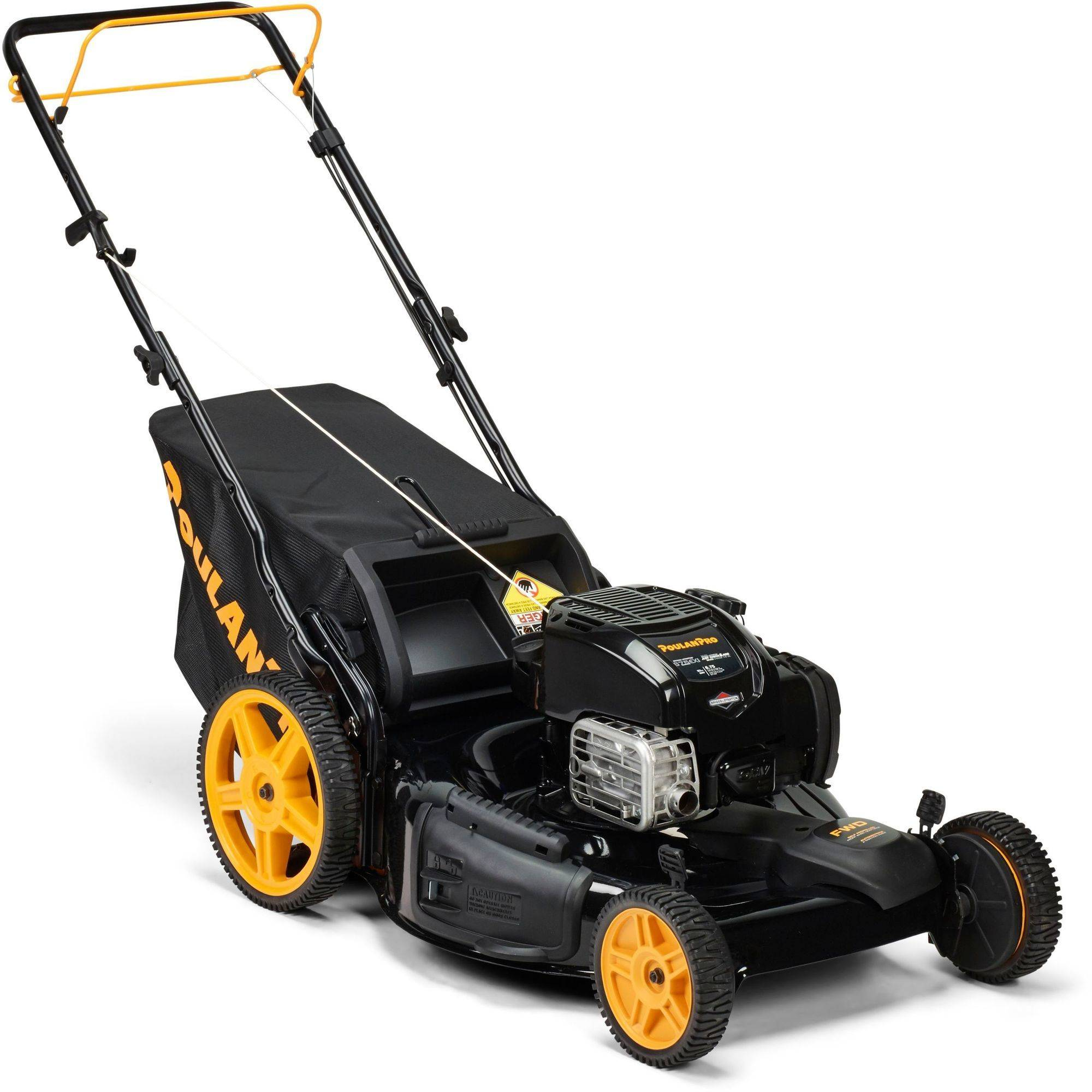 "Poulan Pro 22"" 163cc FWD 3-in-1 Lawnmower w/High Rear wheels"