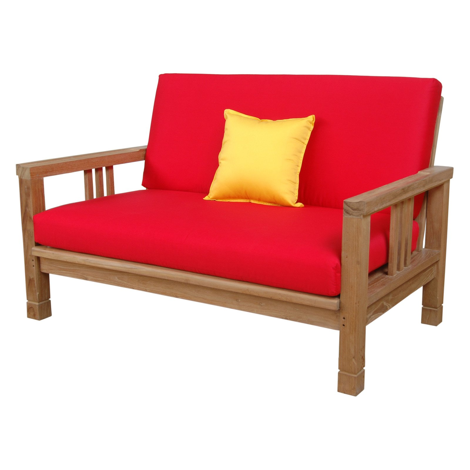 Anderson Teak SouthBay Deep Seating Love Seat with Cushions by