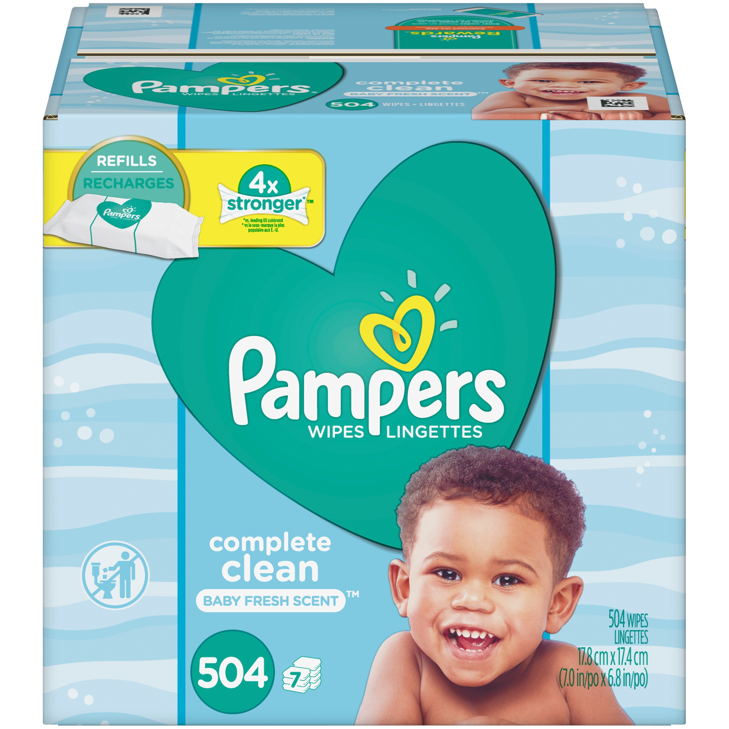 Pampers Complete Clean Baby Fresh Scent Baby Wipes Refills (504 count)