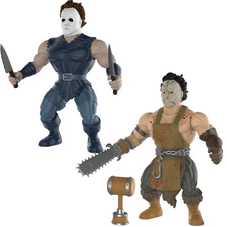 (Set) Leatherface And Michael Myers Horror Movie Collectible Action