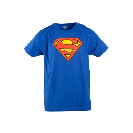 Boy's Royal Blue DC Comics Superman Logo with HD Ink Short Sleeve Tee for $<!---->