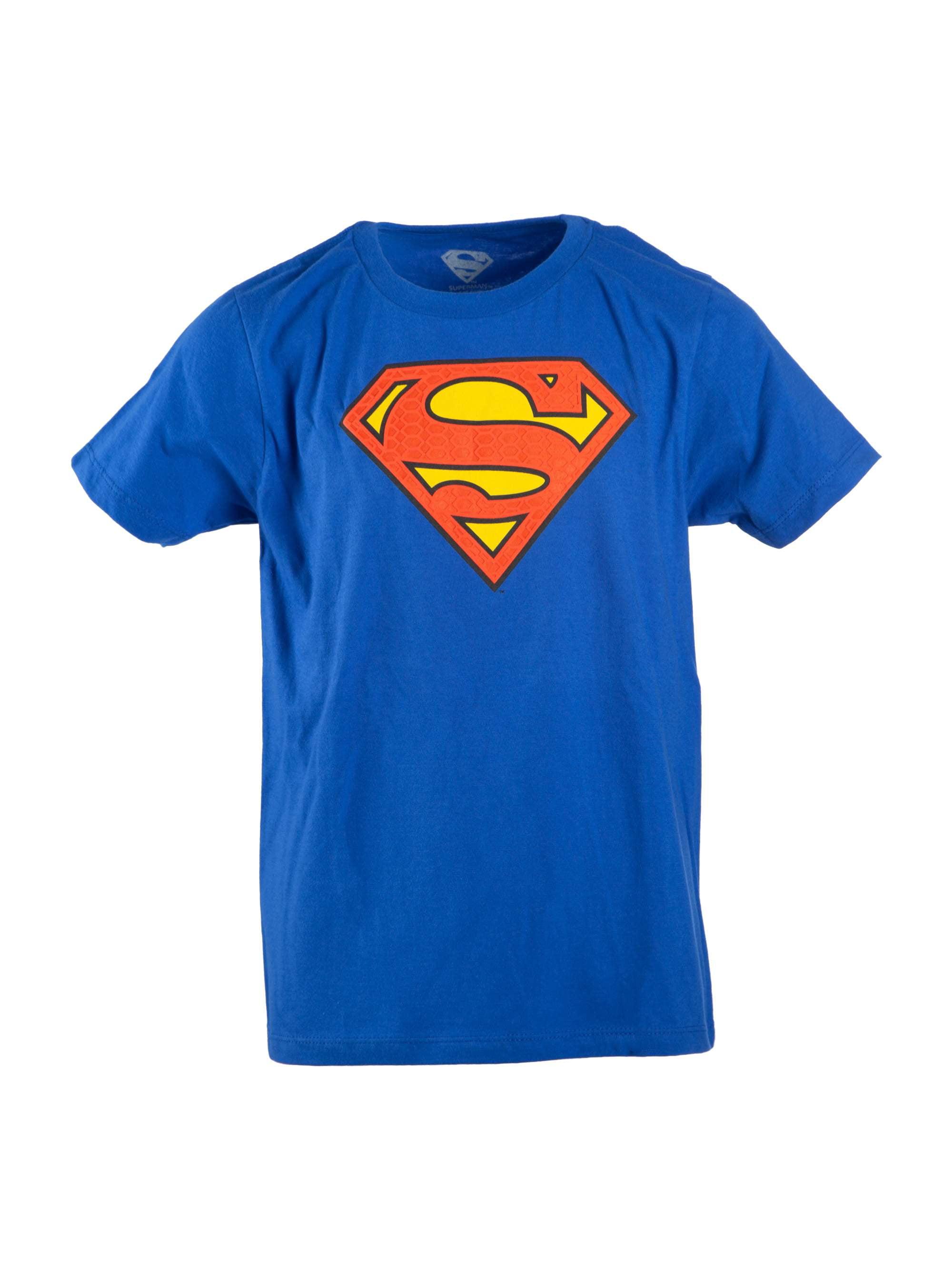 Boy's Royal Blue DC Comics Superman Logo with HD Ink Short Sleeve Tee