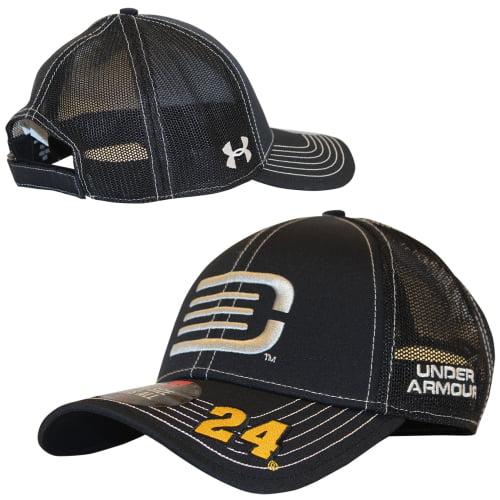 Jeff Gordon Under Armour DTEH Adjustable Pit Crew Hat - Black - OSFA