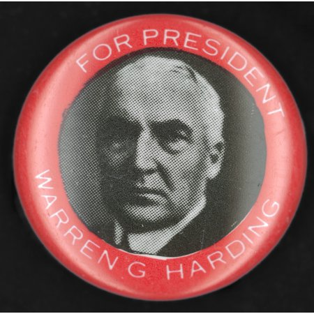 - Presidential Campaign1920 Nrepublican Campaign Button From The 1920 Presidential Election Featuring Warren G Harding Rolled Canvas Art -  (24 x 36)