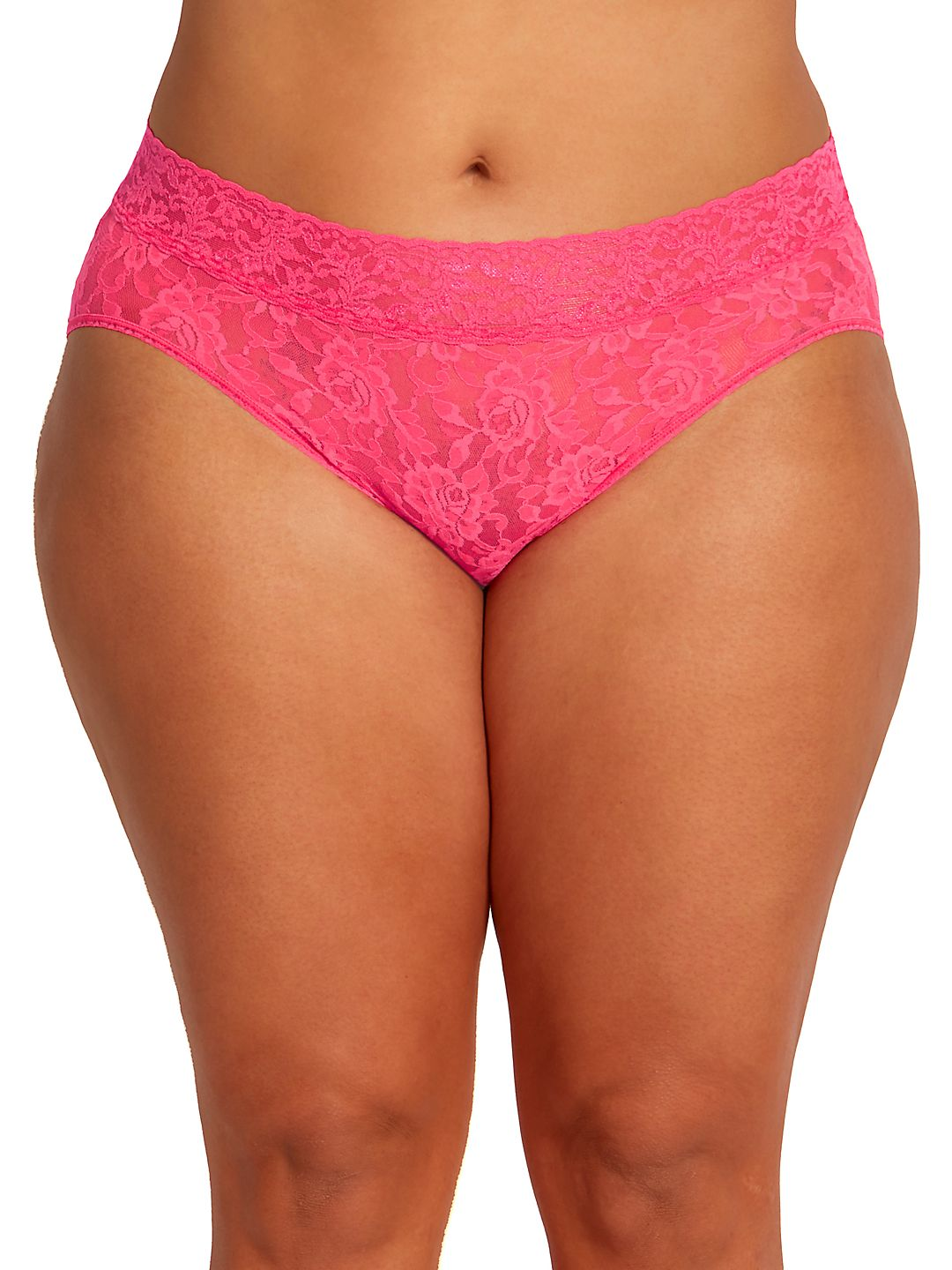 Plus Floral Lace French Brief