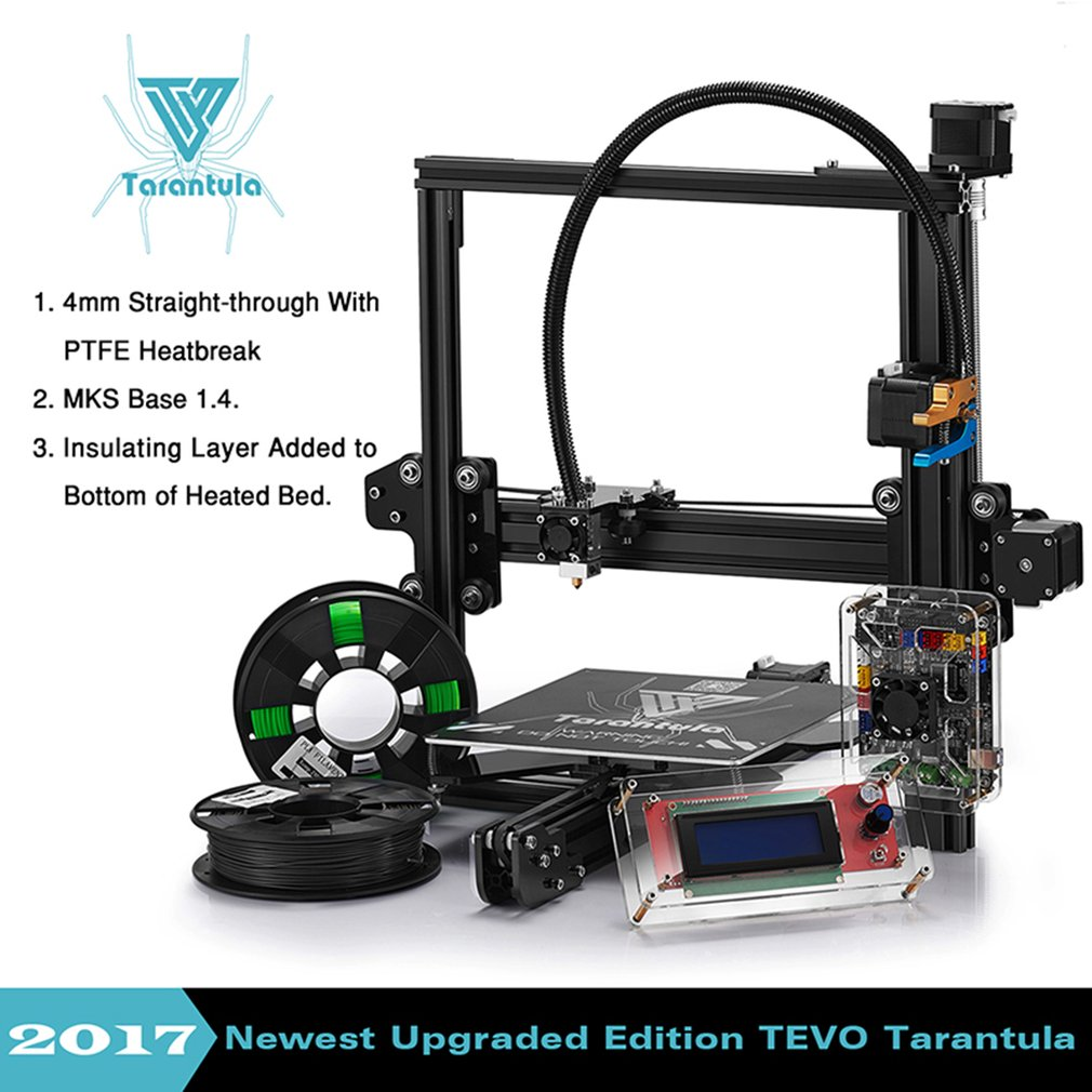 TEVO TARANTULA-PRUSA i3 New 3D PRINTER DIY KIT+2 FILAMENTS+8GB CARD