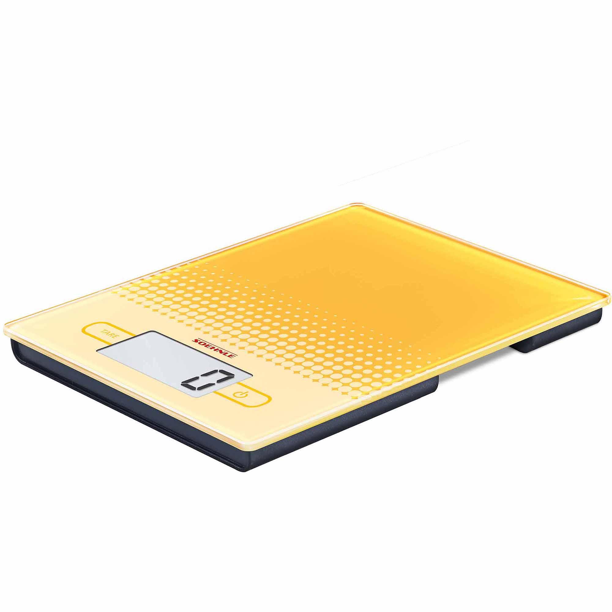 Soehnle CITY Precision Digital Food Scale, 11 lb Capacity, Yellow