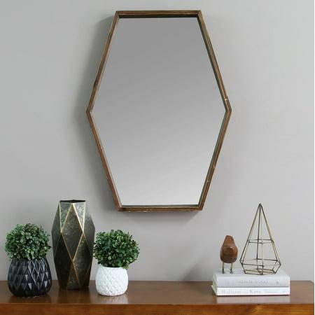 - Stratton Home Decor JoJo Wood Mirror