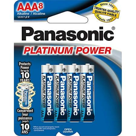 Panasonic Energy Corporation LR03XP/8B Platinum Power AAA Alkaline Batteries, Pack of 8