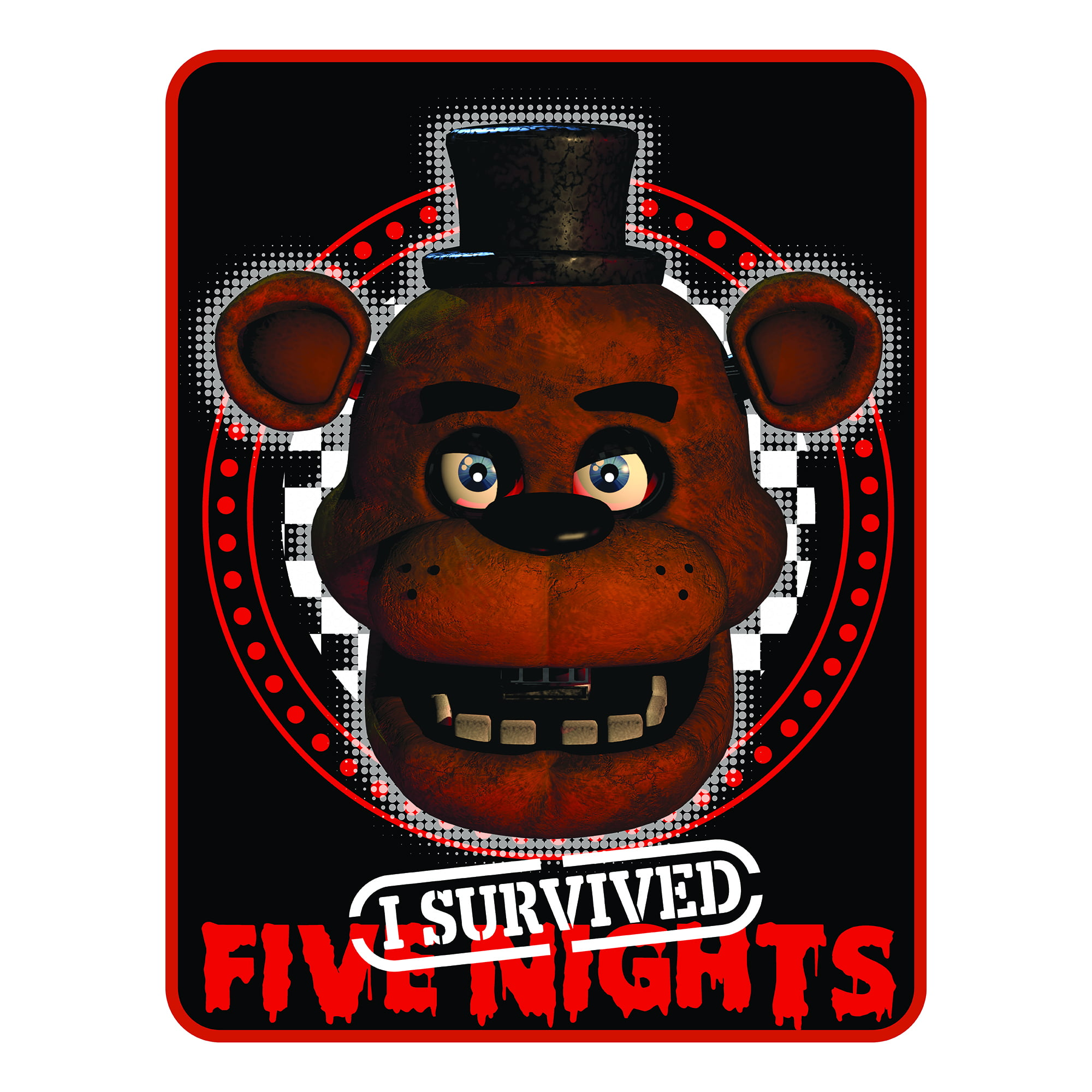 Five Nights At Freddy's Quarter Slice Kids Bedding Plush Throw, 1 Each