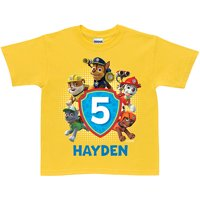 Personalized PAW Patrol Birthday Yellow T-Shirt