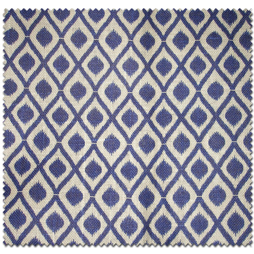 Textile Creations Jute Home Decor Burlap Diamond Royal Blue Fabric, per Yard