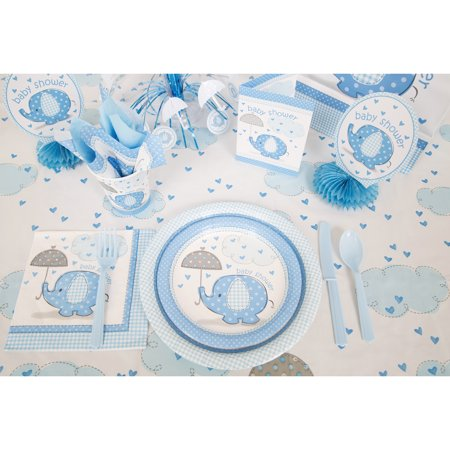 Blue Elephants Baby Shower Supplies Walmart