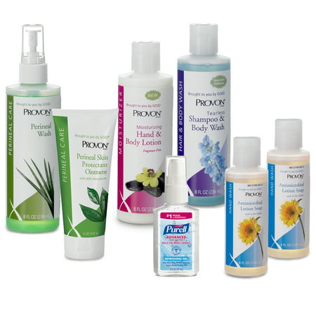 PROVON® In-Home Caregiver Kit - Contains PURELL Hand Sanitizer, PROVON Soap, Shampoo, Body Wash and Lotion
