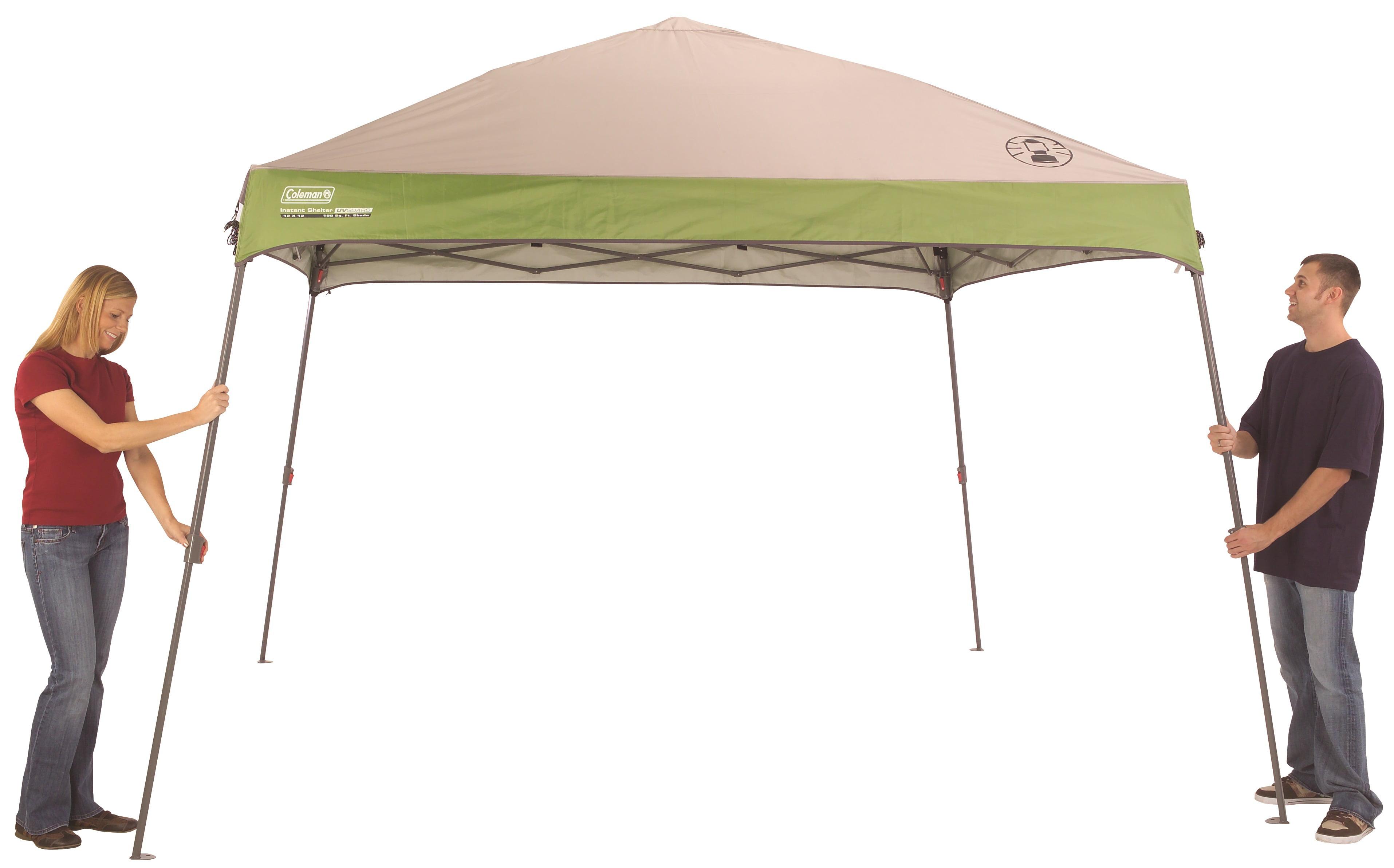 Coleman 12u0027x12u0027 Slant Leg Instant Canopy / Gazebo (144 sq. ft Coverage) - Walmart.com  sc 1 st  Walmart & Coleman 12u0027x12u0027 Slant Leg Instant Canopy / Gazebo (144 sq. ft ...