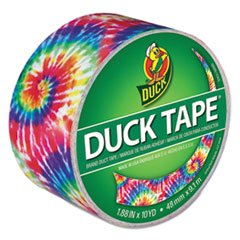 "- Colored Duct Tape, 1.88"" x 10 yds, 3"" Core, Love Tie Dye"