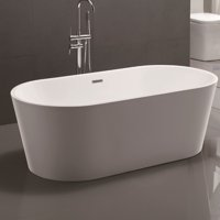 Vanity Art 59'' x 29.5'' Freestanding Bathtub Soaking