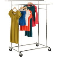 Honey Can Do Dual Collapsible Garment Rack Chrome