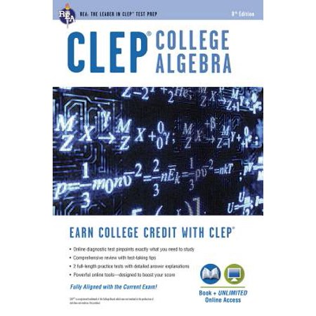 CLEP(R) College Algebra Book + Online (Cynthia Young College Algebra 3rd Edition Answers)