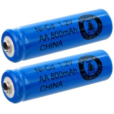 2pc AA 1.2V 800mAh NiCd Rechargeable Button Top Assembly Cell Batteries USA SHIP