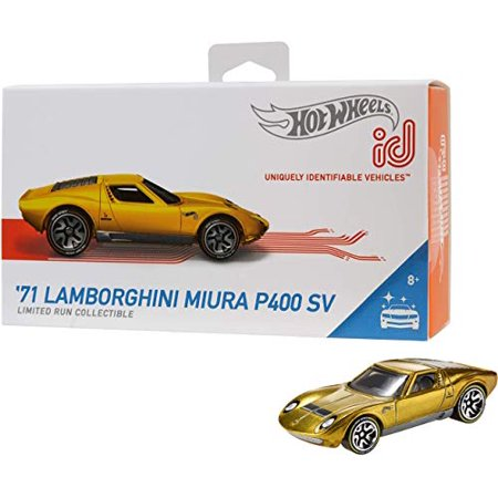 Hot Wheels id '71 Lamborghini Miura P400 SV (Gold) Series 1 Factory Fresh