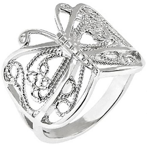 Doma Jewellery SSRP00410 Sterling Silver Butterfly Ring, Size 10