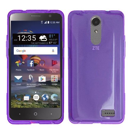 Phone Case For ZTE Zmax One LTE Z719DL, ZTE Blade Spark 4G (AT&T), ZTE Grand X4 (Cricket Wireless) Gel Flex Cover Case (Purple) ()